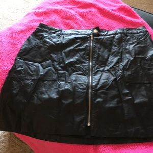 Candies large pleather skirt.